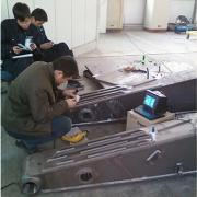 三一重工 挖掘机 动臂和抖杆抛丸前后的残余应力测试